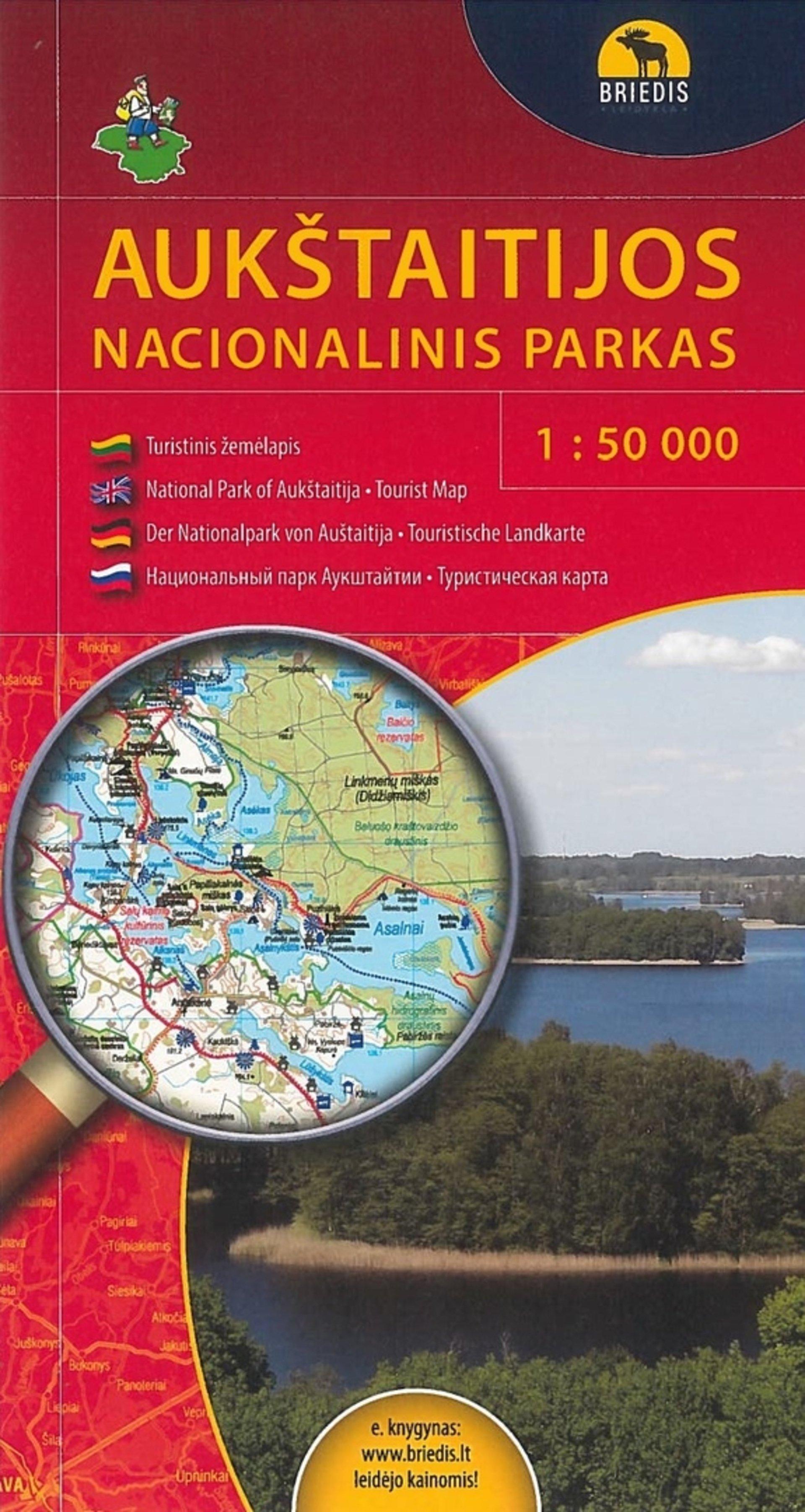 Aukštaitijos nacionalinio parko žemėlapis