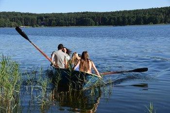 Turizmo sezono atidarymas Palūšės valtinėje