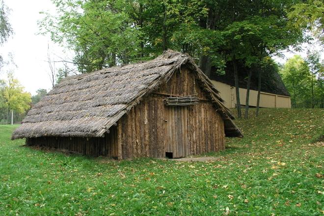 Экспозиция кургана и дом каменного века