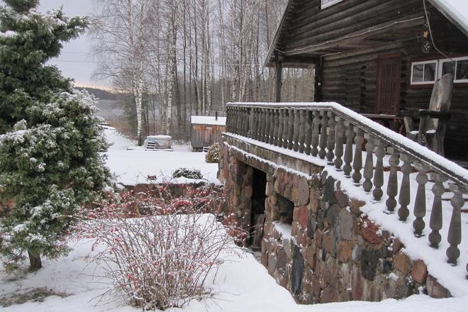 Jurate Snieškienė lauku mājā