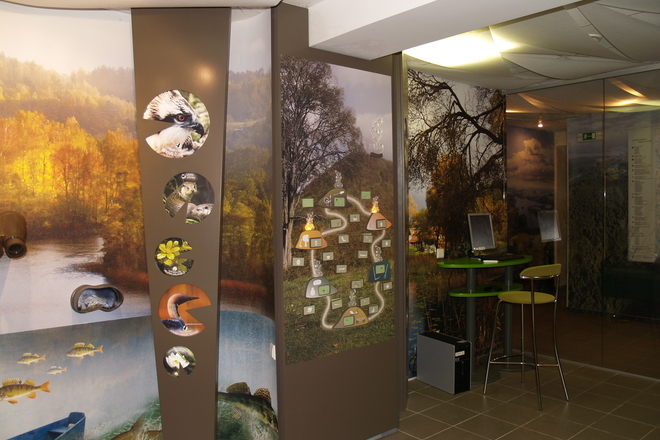 Exposition of the Visitor Centre in Palūšė
